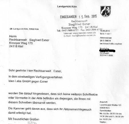 LG Köln verweigerte Akteneinsicht
