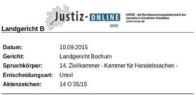 NRWE LG Bochum Werbung mit durchgestrichenem Preis