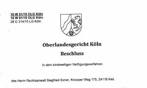 OLG Köln Begründungsobliegenheit?