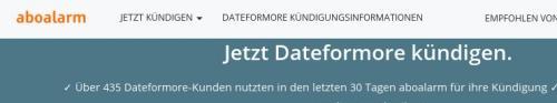 dateformore-Kündigungen bei aboalarm