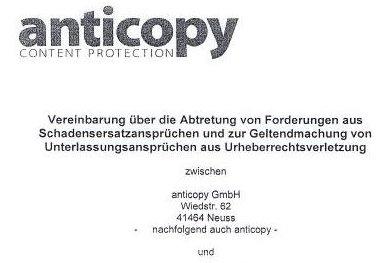 Unterlassung und Anticopy - Foto-Abmahnung droht